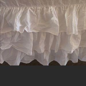 Ruffle crib Skirt white romantic shabby chic vintage Victorian three tier